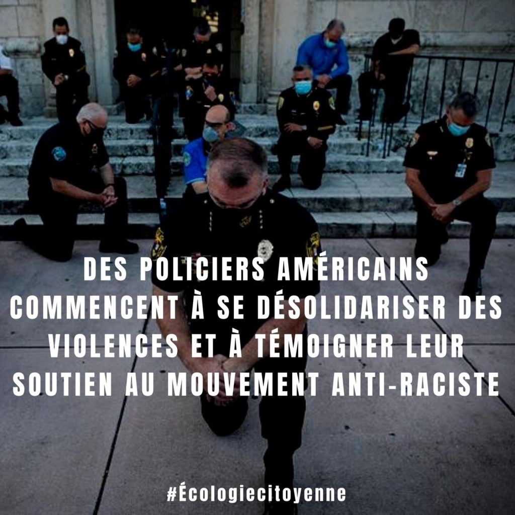 Des policiers américains commencent à se désolidariser...