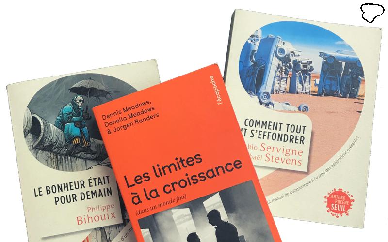 Trois livres à lire absolument ! - Ecologie citoyenne - Comment tout peut s'effondrer - le bonheur était pour demain - Les limites à la croissance